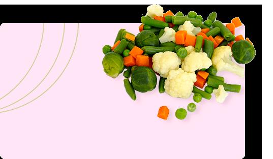 Замороженные продукты и овощи