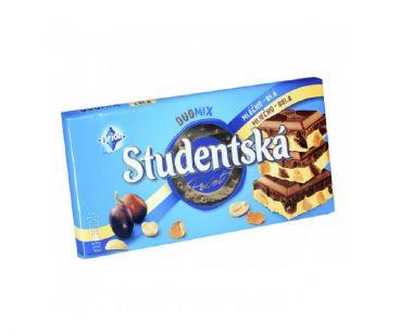 ШБ Шоколад Studentska DUO MIX молочный с белым, 180 гр