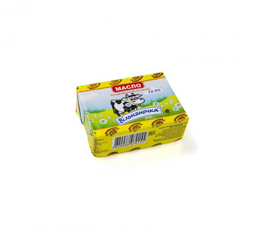 Масло Селянское 72,5% Вольнянск, 200 г