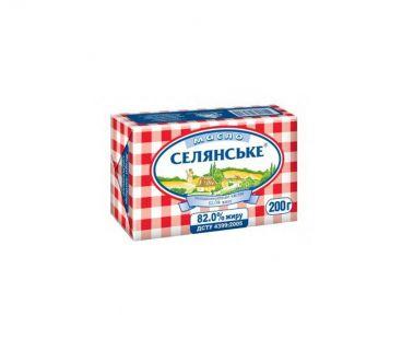 Масло и Маргарин Селянское масло сливочное экстра 82% 200г