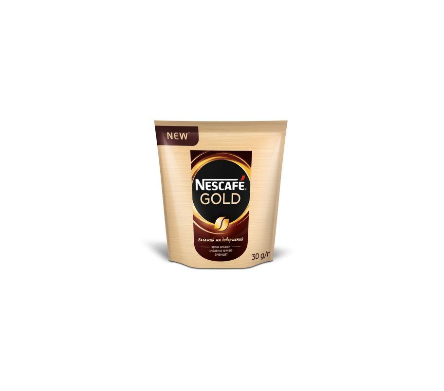 Кофе растворимый Nescafe gold пак 30 гр