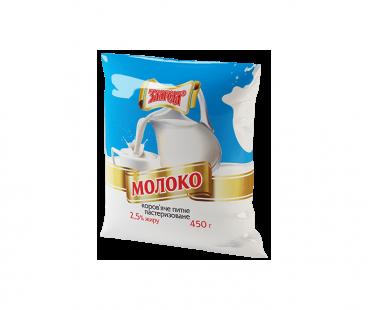 Молоко Злагода Молоко пастеризованное 2,5%, 450г