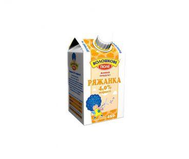 Кисломолочные продукты Волошкове Поле Ряженка 4% п/п 450г