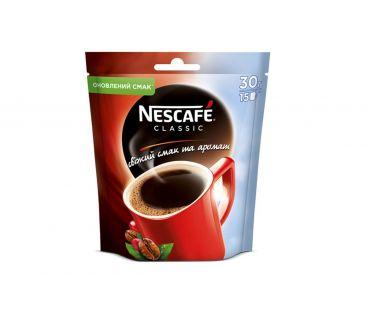 Кофе растворимый Nescafe classic  пак 30 гр