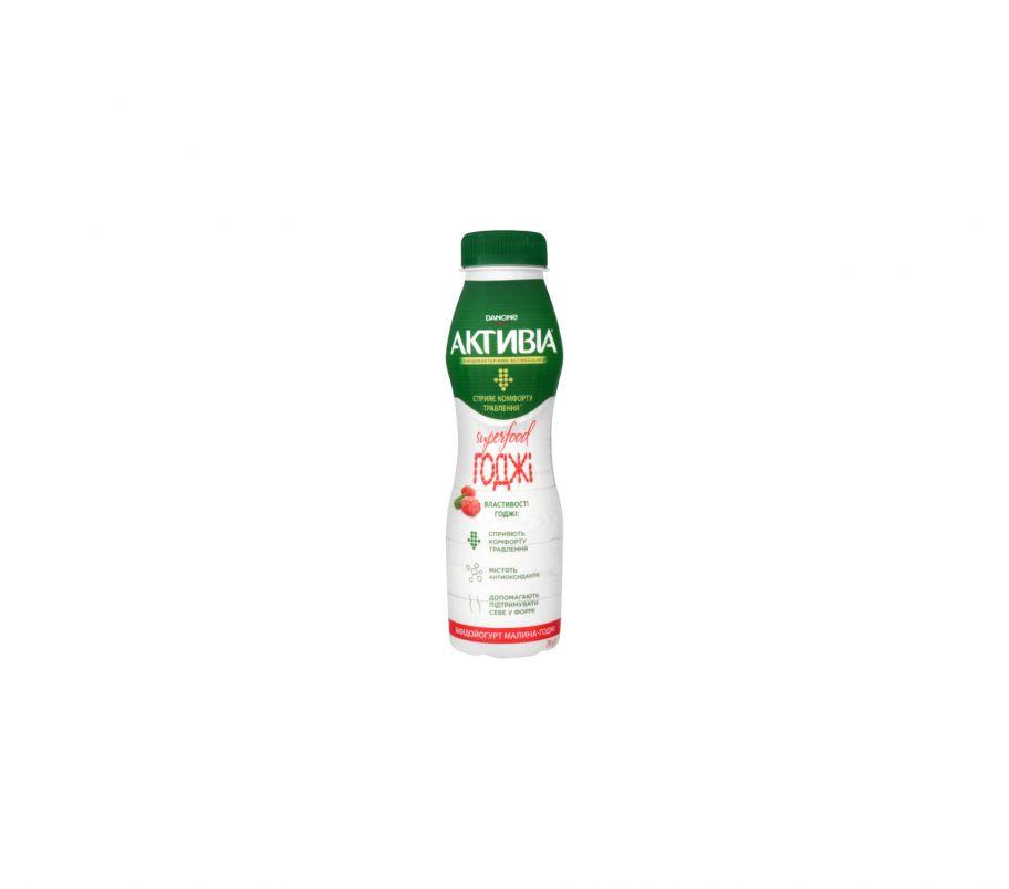 Активия Бифидойогурт 1.5% малина-годжи пэт 290г
