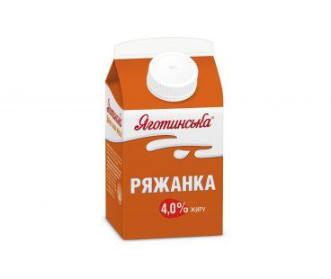 Кисломолочные продукты Яготинское Ряженка 4% 450г