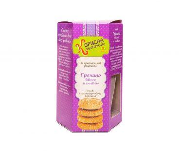 Корисна кондитерська печенье гречнево-овсяное 300г