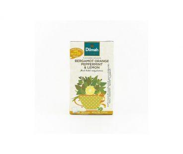 Чай травяной Dilmah Смесь травяная бергамот-апельсин-мята-лимон 20*1,5г