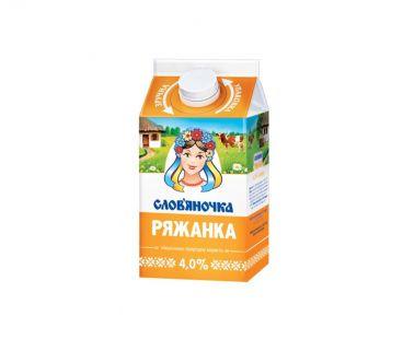 Кисломолочные продукты Словяночка Ряженка 4% 0.45л