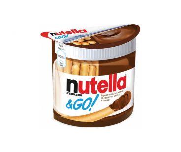 Паста арахисовая шоколадная Ferrero Nutella&Go ореховая с какао и хлебные палочки 52г