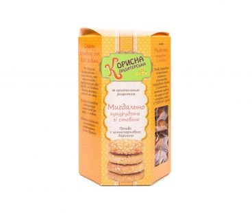 Корисна кондитерська печенье миндально-кукурузное 300г