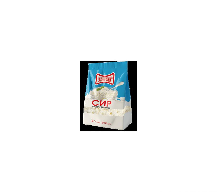 Злагода Творог кисломолочный, 5%, 300г