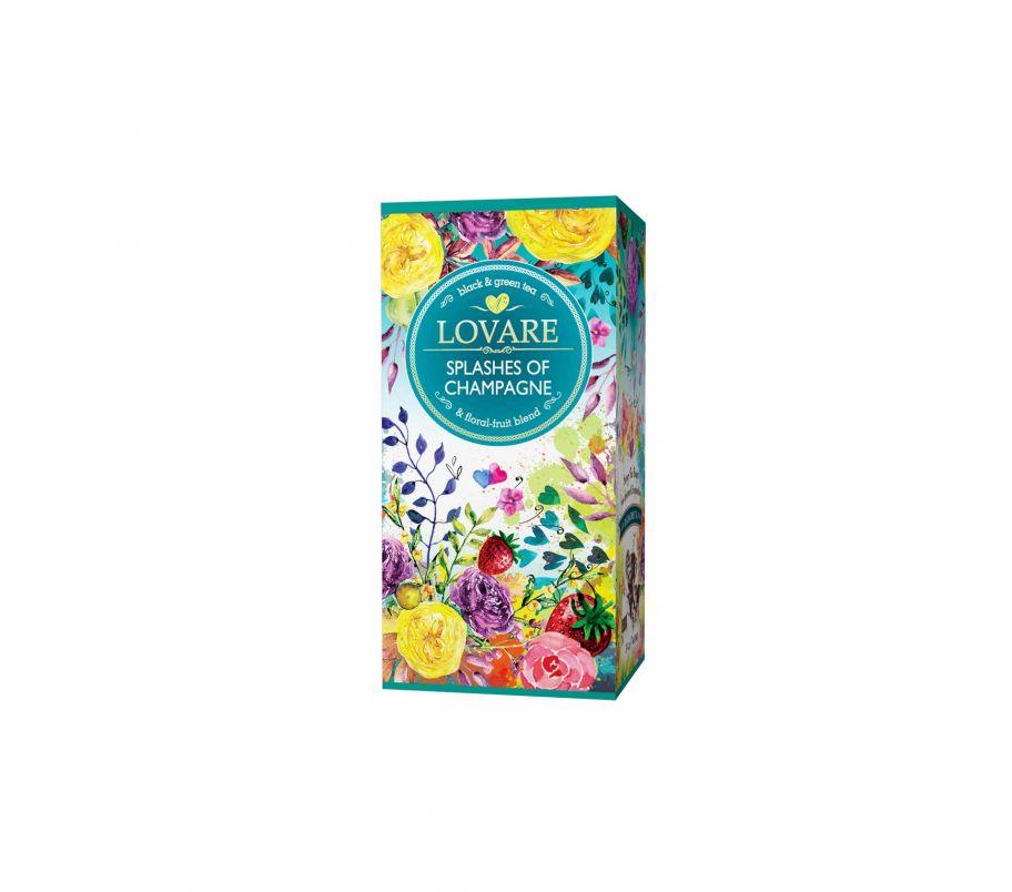 Чай черный + зеленый Ловаре Lovare Брызги шампанского пакетированный 24х2 г