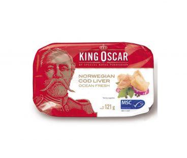 King Oscar Печень трески консервированная стерилиз 121г