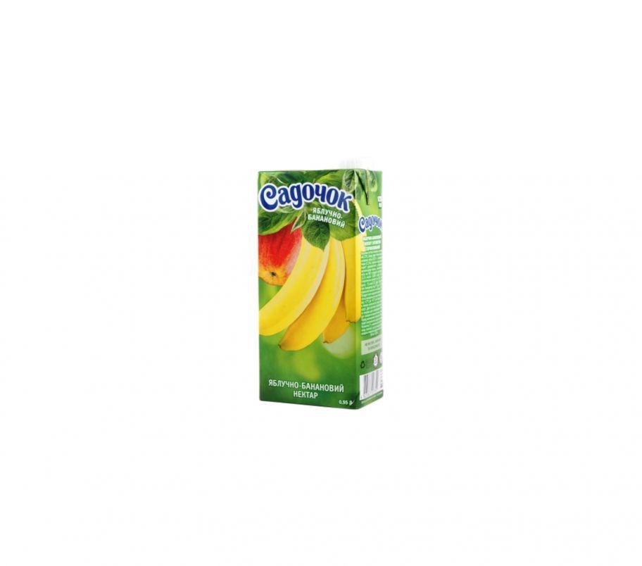 Сок Садочек яблоко-банан т/п 950г