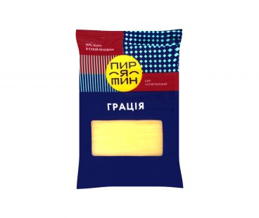 Фасованные твердые сыры Пирятин сыр Грация 20% фас 160г