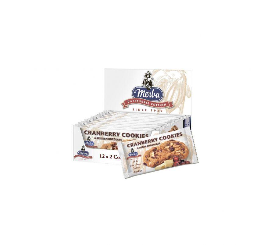 Merba Печенье с клюквой и кусочками белого шоколада 44г