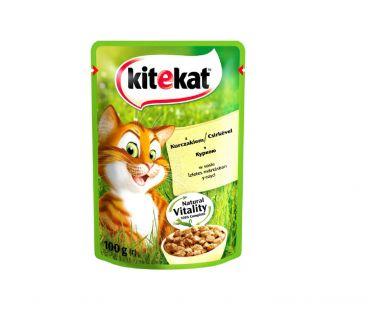 Корм для котов Kitekat с курицей в соусе, 100 г
