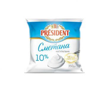 President Сметана 10% п/э 350г