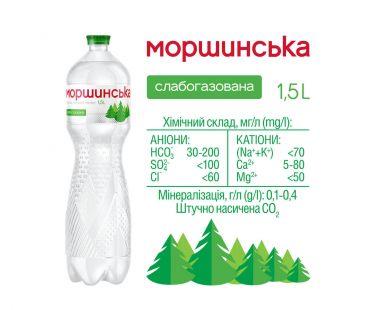 Моршинская мин. вода слаб.газ 1,5л