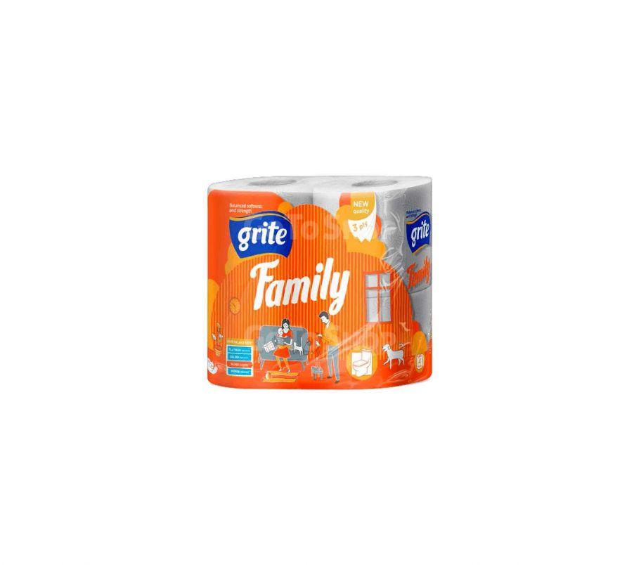 GRITE бумага туалетная Family 4шт