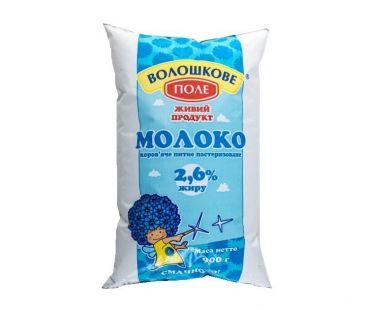 Волошкове Поле Молоко пастеризованное 2,5% 900г