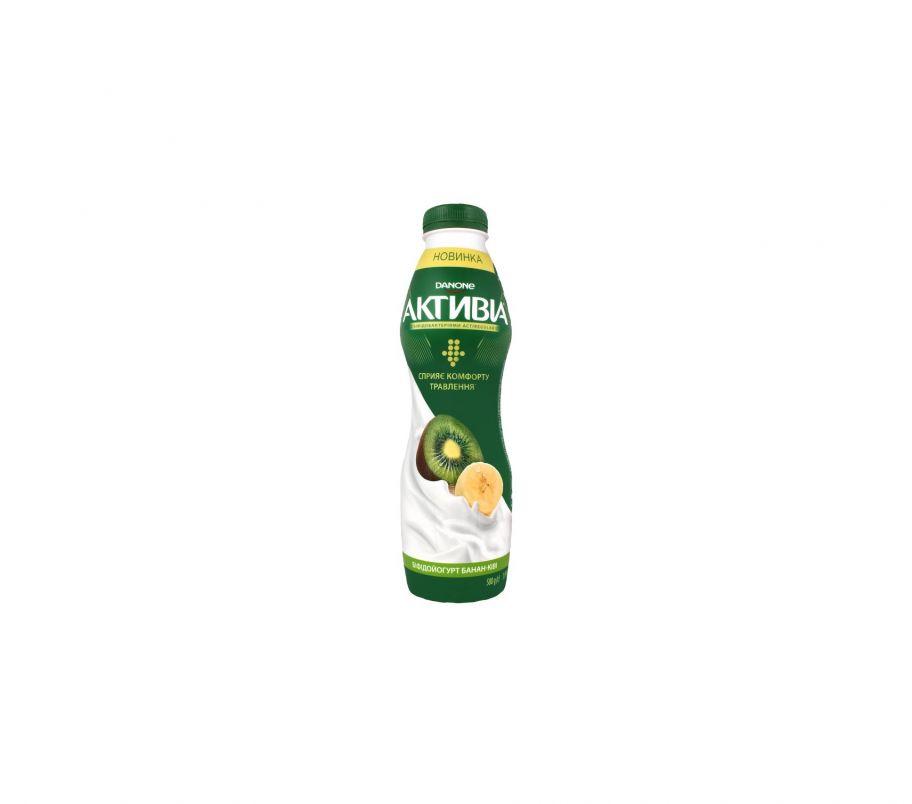 Активия Бифидойогурт 1.5% банан-киви  пэт 580г