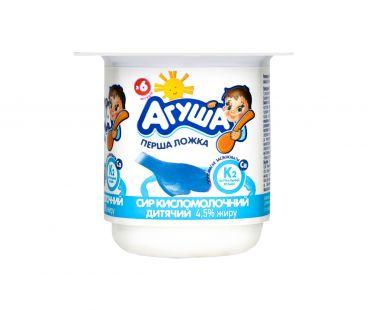 Детская молочная продукция Творог Агуша классический 4,5% 100г ванна