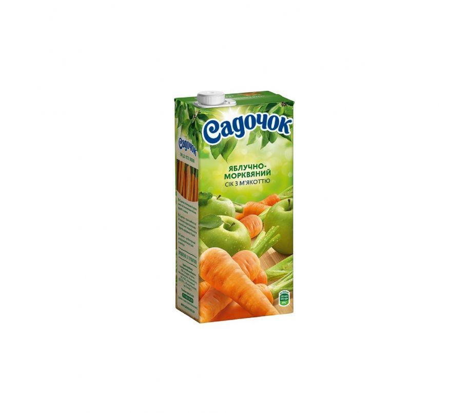 Сок Садочек яблоко-морковь т/п 950г
