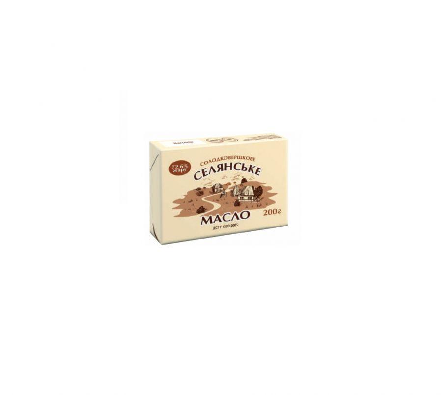 НМ Масло солодковершкове селянське 72,6% 200г
