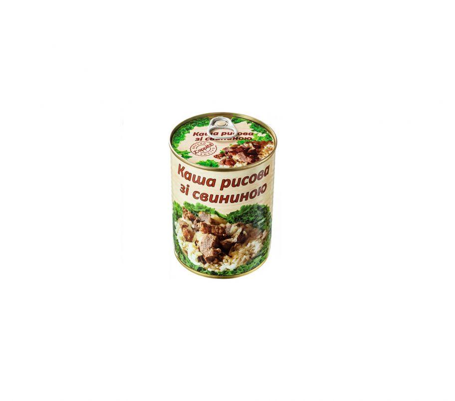 L'APPETIT Каша рисовая со свининой 340г ж/б
