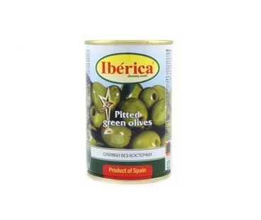 Маслины, оливки Iberica Оливки зелёные без косточки 300г