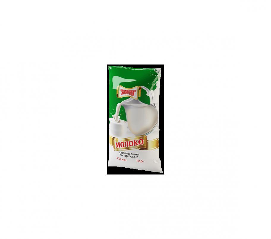 Злагода Молоко пастеризованное 3,2%, 910г