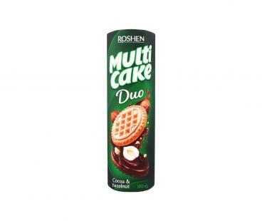 Roshen Multicake ДУО печенье-сэндвич какао-орех 180г