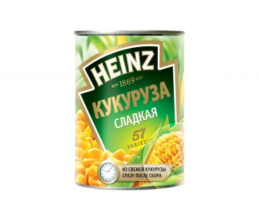 Консервы овощные СФД Кукуруза сахарная ТМ Heinz ж/б 400г