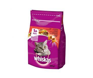 Корм для котов Whiskas с говядиной сухой, 950 г.