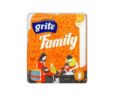 Бумажная продукция GRITE Полотенце бумажное Family 2шт
