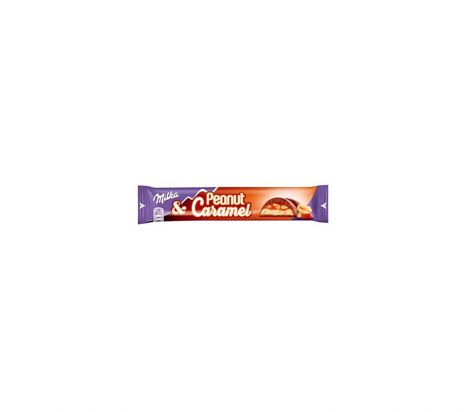 Milka Шоколад с арахисом и карамелью 37г