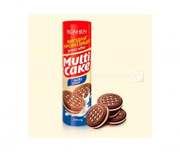 Rochen Multicake печенье-сендвич молочно-кремовой 210г