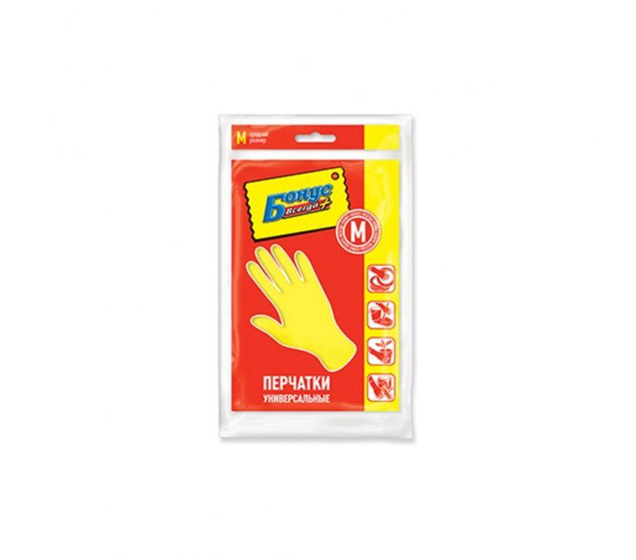 БОНУС Перчатки резиновые универсальные M
