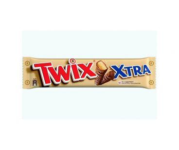 Twix Extra Батончик с песочным печеньем шоколадный 75г