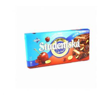 ШБ Шоколад Studentska Вишня + арахис 180 гр