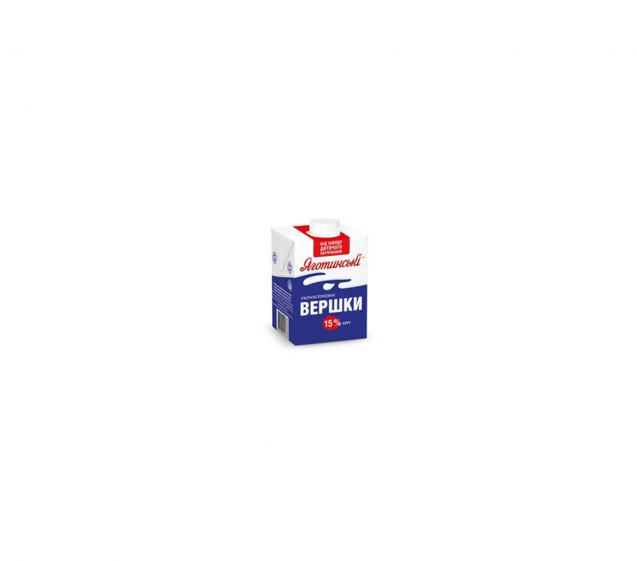 Яготинское сливки 15% 500г ТП