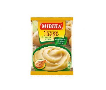 Еда быстрого приготовления Мивина Пюре картофельное  курица  120 гр