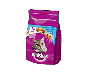 Корм Whiskas с тунцом для взрослых котов, 300 г.