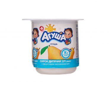 Детская молочная продукция Творог Агуша груша 3,9% 100г ванна