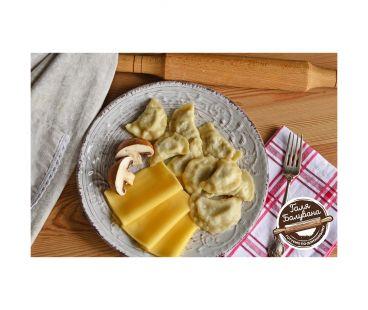 Галя Балувана Вареники с голландским сыром и грибами