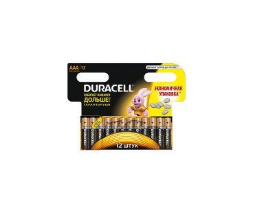 Батарейки DURACELL Basic AAA алкал. 1.5V LR03 12шт