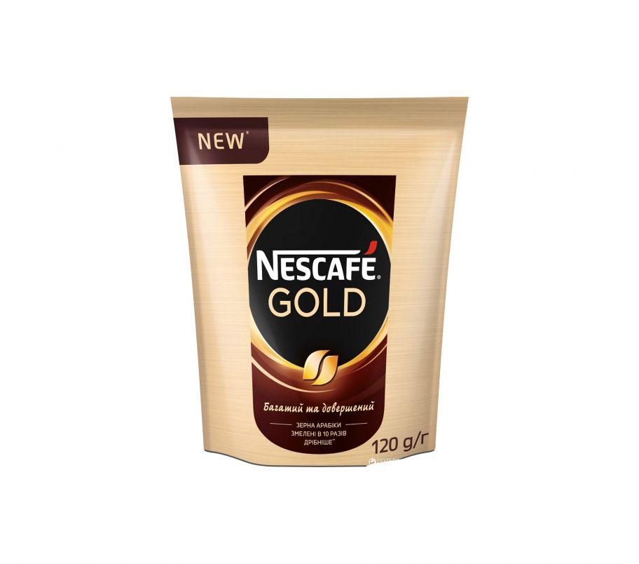 Кофе растворимый Nescafe gold пак 120 гр
