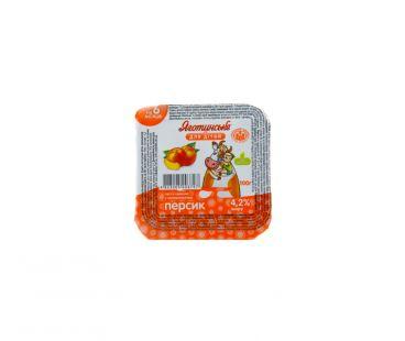 Детская молочная продукция Яготинское для детей творог персик 4.2% 100г